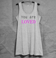 Grey dress you are loved tank top dress women by WorkoutShirts