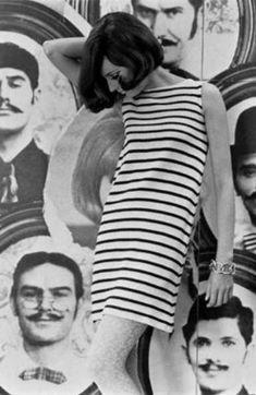 1960s Fashion- Shift dresses (trend) - Stripes night? Stripes and polka dots night?