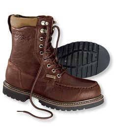 Men's Gore-Tex Kangaroo Upland Boots, Moc-Toe Leather: Rain Boots | Free Shipping at L.L.Bean