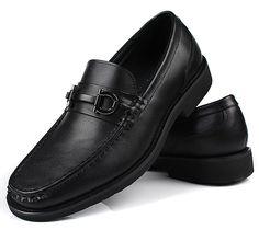 Mens casual dress shoes black