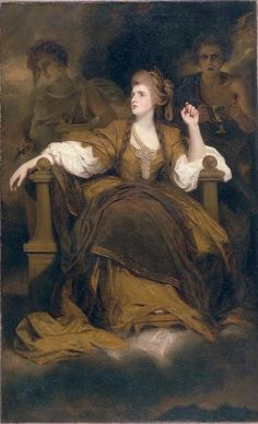 Sir Joshua Reynolds (1723-1792)  Mrs. Siddons as the Tragic Muse   c. 1789