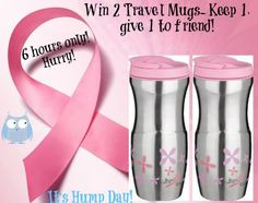 Enter to Win 2 Travel Mugs! Keep one and give one to a friend!