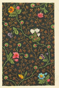 Design for a Textile, 1800, Swiss