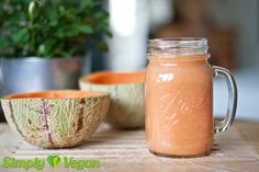 Melonen-Trauben-Smoothie  Rezept unter: simply-vegan.org