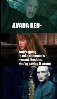 Every ones favorite little swot, Hermione Granger tells Voldemort how it is.