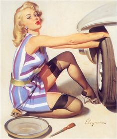 Vintage Pin Ups ... So Pretty! : I Love Vintage Pin Ups Story ... One of my all time fave prints~