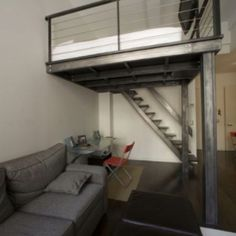 Great custom-built blackened steel loft from Z-Studios. Bunk Beds, Loft Beds, Interior Design Elements, Mountain Homes, Bedroom Loft, My Dream Home, Space Saving, Lofts, Warehouse