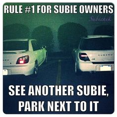 Always park by the Subaru! #Subaru