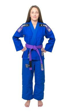 14ea1d6c3df1f Atama Ultra Light Kimono Womens - Blue Karate Girl
