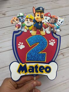 Excited to share the latest addition to my shop: Paw Patrol Cake Topper Bolo Do Paw Patrol, Paw Patrol Cake Toppers, Cumple Paw Patrol, Paw Patrol Pinata, Paw Patrol Masks, Paw Patrol Cupcakes, Paw Patrol Birthday Decorations, Paw Patrol Birthday Cake, Birthday Cake Toppers