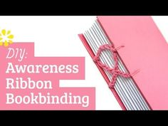 Bookbinding Tutorial: Coptic Stitch Awareness Ribbon  [ easy to follow instruction whether you've done the Coptic stitch before or not. Great looking finished product. Very rewarding & inspirational craft ]