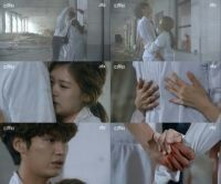 "Lee Hae-seong asked, ""Do you still have the medication from Eun So-yool?"" and Jeong Ttol-mi answered, ""I'll bring water"". Lee Hae-seonggrabbed Jeong Ttol-mi's arm and begged, ""Please don't go"".  http://www.hancinema.net/spoiler-d-day-kim-yeong-kwang-s-ptsd-worsens-jeong-so-min-s-solace-is-the-only-remedy-for-now-88020.html"