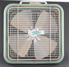 We used to spend hours singing into the fan!! Vintage Compact AHS Box Floor 2-Speed Fan