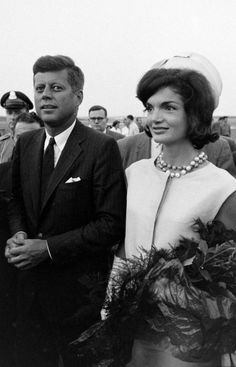 Presidential Candidate Senator Jack Kennedy and his wife, Jackie.
