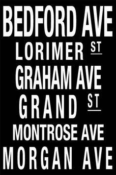 Custom address subway art