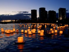 Magical NYC candlelight on the water on the 10th Anniversary of 9-11.