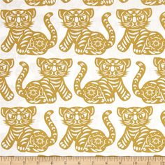 Michael Miller Seedling Growl Citron from @fabricdotcom  Designed by Thomas Paul for Michael Miller, this cotton print fabric is perfect for quilting, apparel and home decor accents. Colors include yellow-green and white.