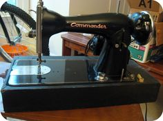 Commander Sewing Machine Found this cool sewing machine pic