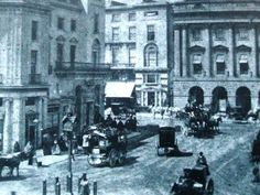 Old London, One of the earliest pictures taken in Piccadilly Circus 1860