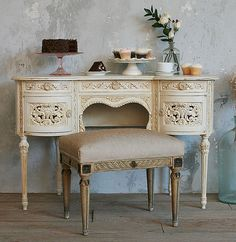 vintage carved vanity-beautiful