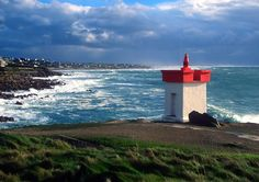 Mer d'Iroise - Phare de Pors Poulhan à Plouhinec (Finistère)