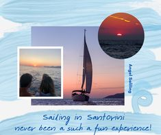 9 reasons to choose Angel Sailing Santorini Sailing in Santorini has never been such a fun experience! Angel Sailing Santorini appreciate and value our guests as though they were our family and friends.  #sailingsantorini #santorinisailing Santorini, Sailing, Cruise, Angel, Tours, Island, Explore, Friends, Fun
