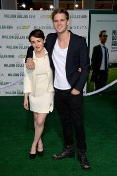 Jeremy Irvine (Daniel) and Addison Timlin (Luce) at the premiere of Million Dollar Arm last night!!!