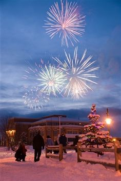 Anchorage picture in Anchorage. Beautiful Fireworks in the Snow