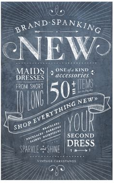 gorgeous lettering! Brand-Spanking New - Shop Everything New »