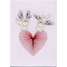 patrons broderies - Dominique M - Picasa Web Albums Embroidery Cards, Embroidery Stitches, Polly Polly, Butterfly Birthday Cards, Sewing Cards, String Art Patterns, Cute Fairy, Thread Art, Hobbies And Crafts