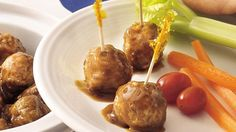 Boost up the flavor of frozen meatballs with instant soup mix and other simple ingredients.