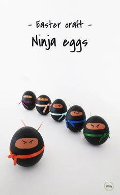 Make ninja eggs as a fun Easter decor.