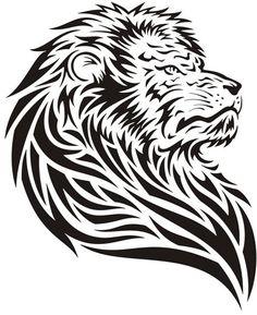 Elegant Tattoo Designs For Men And Women Leo Lion Tattoos, Tribal Animal Tattoos, Tribal Lion Tattoo, Tribal Pattern Tattoos, Bull Tattoos, Owl Tattoo Design, Tribal Tattoo Designs, Small Chest Tattoos, Bamboo Tattoo