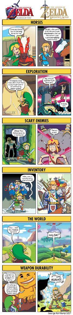 Zelda Games: Ocarina of Time vs. Breath of the Wild