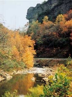 Pennington Gap, Virginia...The Great Stone Face...said to mark the entrance to Cherokee holy ground.