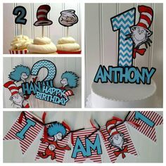 Dr. Seuss Birthday party ideas Check out this item in my Etsy shop https://www.etsy.com/listing/253160776/dr-seuss-party-package-dr-seuss-birthday