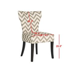 Safavieh En Vogue Dining Jappic Chevron Grey/White Ring Side Chairs (Set Of  2) (MCR4721A SET2) (Cotton)