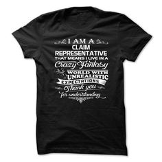 Awesome Claim Representative shirt! - #gifts for guys #candy gift. BUY NOW => https://www.sunfrog.com/Automotive/Awesome-Claim-Representative-shirt-febgtzejpb.html?id=60505