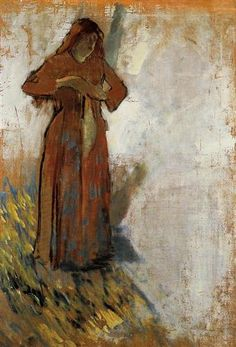 Woman with Loose Red Hair - Edgar Degas