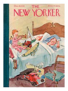 The New Yorker Cover - December 26, 1936 Premium Giclee Print #thenewyorker #illustration #classics
