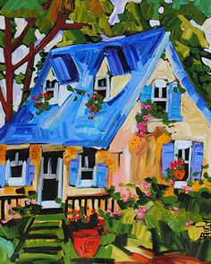 Mon Chez-soi - original painting by Marie Claude Boucher at Crescent Hill Gallery