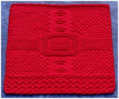 This pattern uses only knits and purls to create the texture you see on Santa's coat… no special stitches required :)