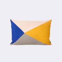 Fusion Triangle Cushion from Ferm LIVING - like the colors and the idea