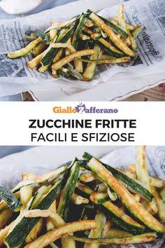 Le zucchine fritte sono facilissime da preparare ma, sopratutto, possono essere usate in mille situazioni diverse: un contorno appetitoso amato da grandi e piccini o un finger food vegetariano e sfizioso, in grado di mettere tutti d'accordo. Preparale con noi! #zucchine #zucchini #courgette #fingerfood #aperitivo #friedzucchini #giallozafferano [Easy and simple fried zucchini recipe] Italian Recipes, Italian Foods, Fett, Cooking Time, Green Beans, Nom Nom, Salads, Dinner, Vegetables