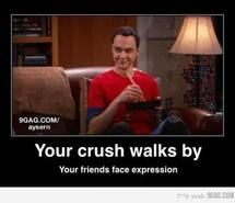 Inspiring picture big bang theory, crush, facial expression, funny, sheldon. Resolution: 460x384 px. Find the picture to your taste!