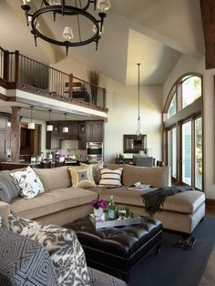 That loft at the top is killin'em. The big window is nice too!
