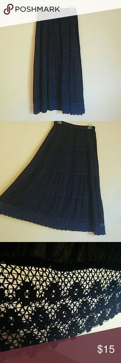 Blue Rayon skirt by Bohemian Cafe Great condition. No tears, snags or stains. Message me with any questions Bohemian Cafe Skirts Maxi