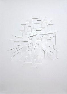 Franz Riedl   Konzentrischer Raum, 2014   paper relief