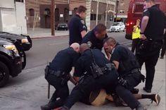 & a f*cking kid& Video shows nine California cops arrest sobbing black teen & jaywalking&
