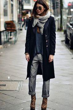 леопардовая обувь с джинсами
